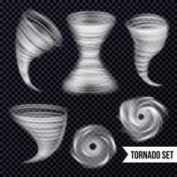 ilustração vetorial de coleção realista de tempestade monocromática vetor