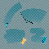 Limpe manchas de vidro definir ilustração vetorial vetor