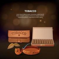 ilustração em vetor de composição realista de tabaco