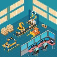 ilustração vetorial de composição de chão de fábrica industrial vetor