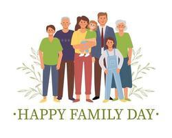feliz dia da familia vetor