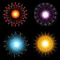 Coleção de fogos de artifício vetor