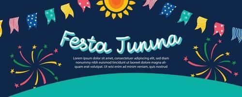 banner festa junina vetor
