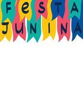 letras festa junina vetor