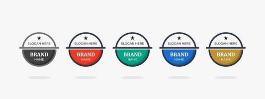 modelo de design de logotipo de crachá para ilustração vetorial de nova marca ou empresa vetor