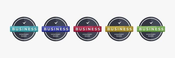 logotipo do crachá modelo de design de forma redonda para ilustração vetorial de negócios de nova marca ou empresa vetor