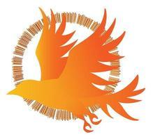 imagem vetorial de silhuetas de pássaros em vôo vetor