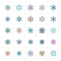 ícone da cor do floco de neve vetor