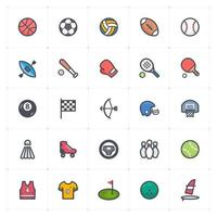linha de esporte com ícone colorido vetor
