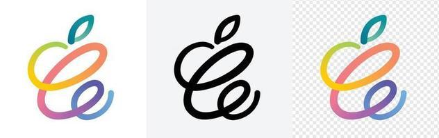 conjunto de logotipo colorido de primavera vetor