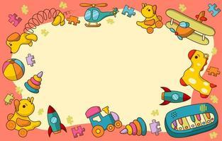 conceito de quadro de brinquedos infantis vetor
