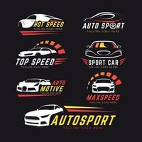 conjunto de logotipo do carro vetor