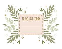 modelo de planejador de diário e lista de tarefas isoladas vetor