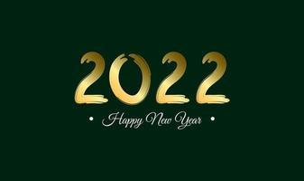 projeto modelo celebração cartaz banner ou cartão para ilustração vetorial de feliz ano novo 2022 vetor