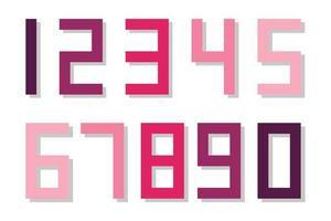 conjunto de números coloridos vetor