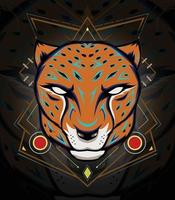 emblema do mascote chita para logotipo da equipe esportiva vetor