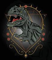 ilustração do mascote t rex para design de camisetas e conceito de logotipo vetor
