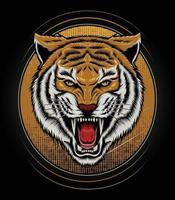 logotipo tigre desenho vetorial para camiseta mascote logotipo equipe esporte metal impressão parede arte adesivo vetor