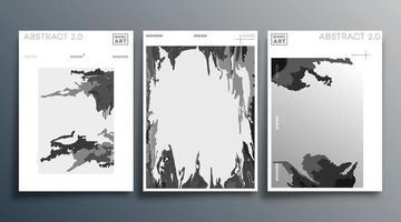 conjunto de design moderno mínimo para panfleto cartaz brochura capa fundo papel de parede tipografia ou outros produtos de impressão ilustração vetorial vetor