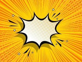arte pop de quadrinhos abstrato bang vetor