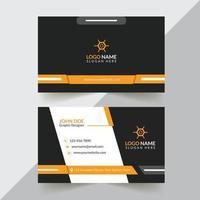 design de cartão de visita corporativo e criativo design de cartão de visita moderno e profissional cartão de visita simples e abstrato modelo de design de cartão de visita vetor
