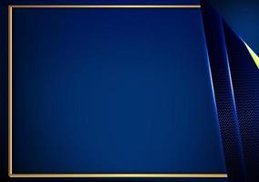 fundo de carbono dourado escuro luxuoso com corte em papel vetor
