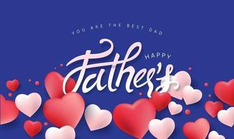 fundo do banner do pôster de venda do dia dos pais vetor