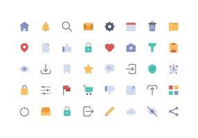 ícone do elemento da interface do usuário plano vetor