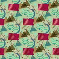 padrão de memphis de formas geométricas vetor