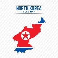 mapa da bandeira da coreia do norte vetor