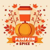 Ilustração de Compotition Spice Pumpkin vetor
