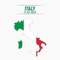 mapa da bandeira da itália vetor