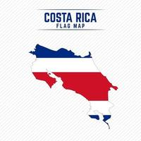 mapa da bandeira da costa rica vetor
