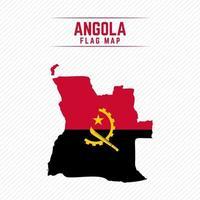 mapa da bandeira de angola vetor