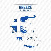 mapa da bandeira da grécia vetor