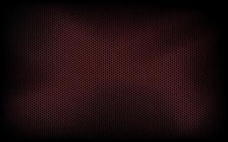 fundo escuro de tecnologia moderna com hexágono vermelho malha abstrata metal textura geométrica ilustração vetorial simples vetor