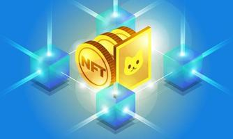 ilustrações vetoriais de token não fungíveis nft vetor
