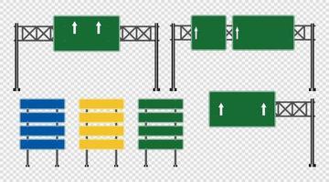 estrada rodovia sinaliza quadro verde vetor