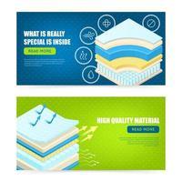 camadas de colchão material banners ilustração vetorial vetor
