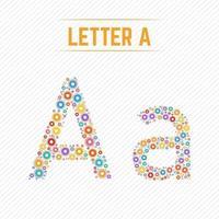 letra abstrata a com design criativo vetor