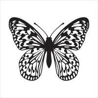 desenho de clipart de borboleta e modelo de corte a laser vetor