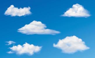 conjunto de vetores de nuvem coleção design gráfico clipart vetor eps 10
