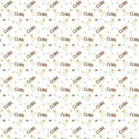 copo de padrão sem emenda de coquetéis com som de guarda-chuva e estrelas desenhando a mão ilustração vetorial fundo branco vetor
