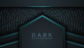 fundo abstrato escuro com camadas sobrepostas conceito de design de luxo vetor