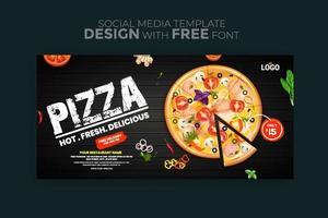 modelo de mídia social de banner de menu de comida vetor
