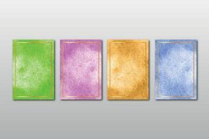 conjunto de texturas de fundo pintadas à mão em aquarela vetor