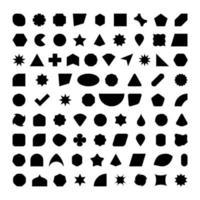 Silhueta de 80 formas básicas vetor
