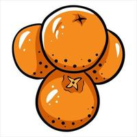 tangerinas, várias tangerinas, umas em cima das outras, frutas cítricas, vitamina c, desenho animado, style vetor