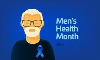 mês internacional da saúde masculina vetor