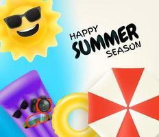 ilustração vetorial feliz temporada de verão vetor